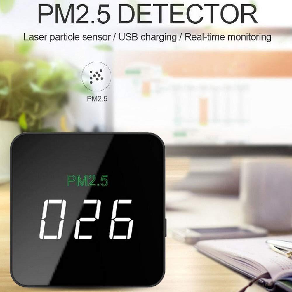 Lianyubang Mini PM2.5 Detector láser medidor de humo, herramienta de monitor de calidad de aire recargable: Amazon.es: Bricolaje y herramientas