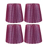 uxcell 4pcs E14 Purple Vintage Style Wall Lamp Candle Light Bulb Lamp Cover Lampshade