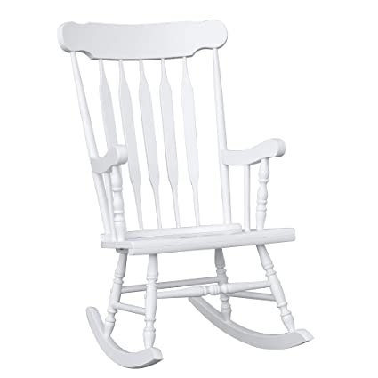 Astonishing Homcom Wooden Baby Nursery Rocking Chair White Pabps2019 Chair Design Images Pabps2019Com