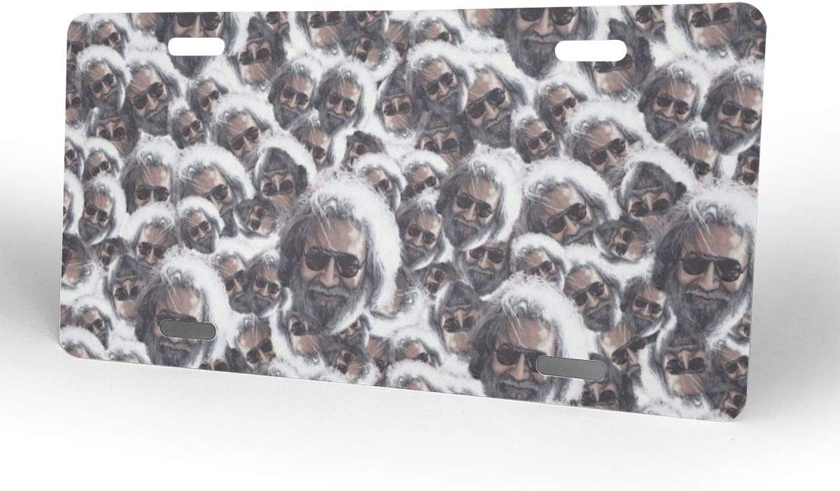 WINTERSUNNY Customized Jerry Garcia Design License Plate Cover Stainless Metal Car Tag Frame Holder Auto Car for US Standard 4 Hole and Screws