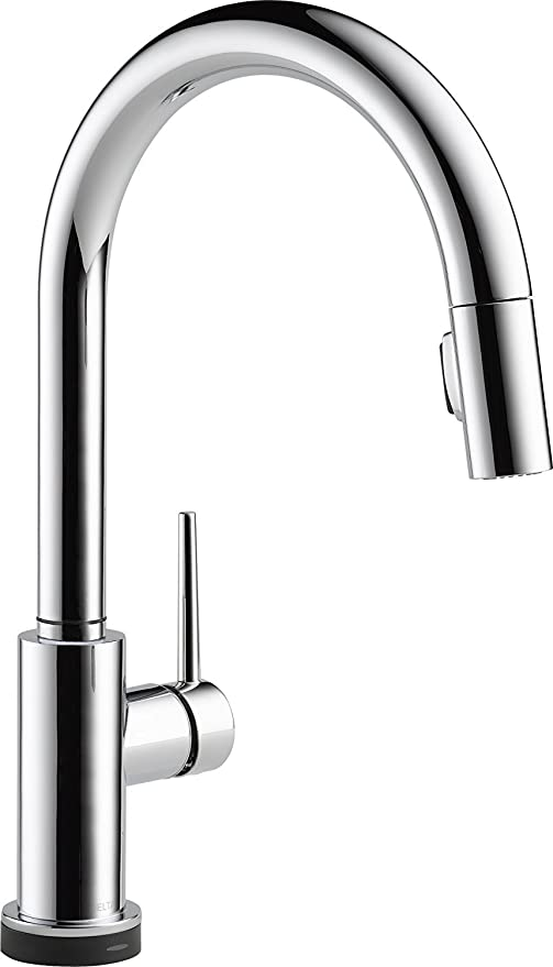 Delta Faucet Trinsic VoiceIQ Single-Handle Touch Kitchen Sink Faucet with  Pull Down Sprayer, Alexa and Google Assistant Voice Activated, Smart Home,  ...