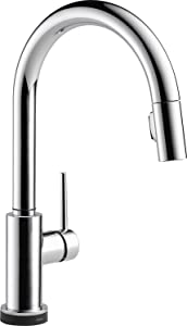 Delta Faucet Trinsic VoiceIQ Single-Handle Touch Kitchen Sink Faucet with Pull Down Sprayer, Alexa and Google Assistant Voice Activated, Smart Home, Chrome 9159TV-DST