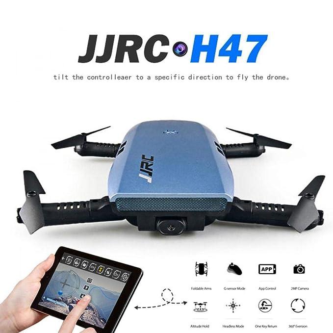 JJRC WiFi Camera Drone, H47 ELFIE Plus plegable Selfie Drone con ...