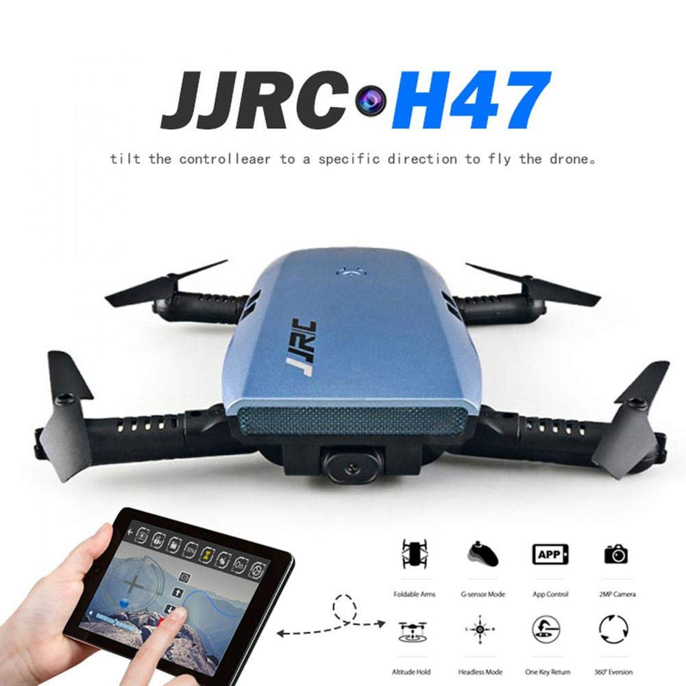 JJRC WiFi Kamera Drohne, H47 ELFIE Drone Plus faltbare Selfie Drone ELFIE mit HD 720P Kamera, G-Sensor Höhe Halten Headless Modus One-Key Return RTF Quadcopter für Kinder 332c6c