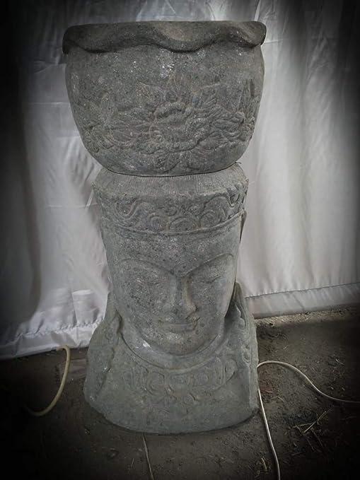 wanda collection Estatua Jardin macetero Diosa balinesa de Piedra volcánica 80 cm: Amazon.es: Jardín
