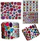 Crystal King Lot de 961strass autocollants de formes et couleurs variées Idéal pour bricoler, décorer et créer