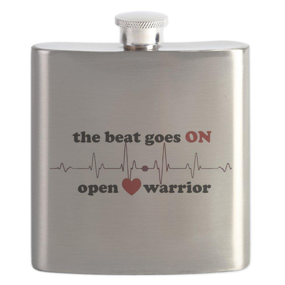 CafePress – – オープンハートWarrior – – ステンレススチールフラスコ、6オンスDrinkingフラスコ CafePress B01LJ2S5IQ, ユウチョウ:714c0f12 --- mens-belt.xyz