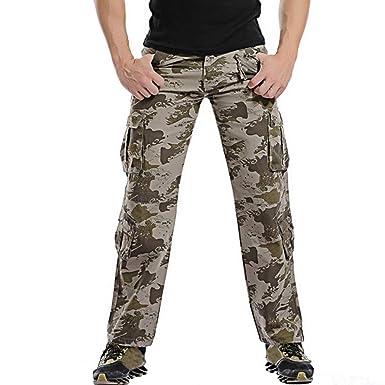 0a42d27cf154 Pantalon Homme,Sonnena Pantalons de Travail Bermudes Camouflage,Mode Pants Cargo  Pantalon Multipoches pour
