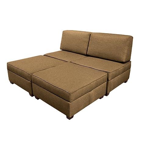 Duobed multifuntional King Sofa Sleeper - Tan
