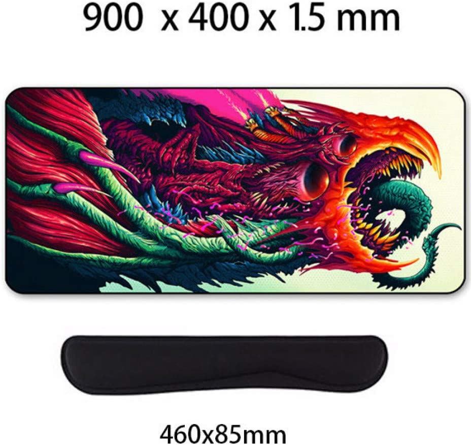 WHFDSBD Large Mouse Pad Gaming Mousepad Anti-Slip Natural Rubber Gaming Mouse Mat with Locking Edge
