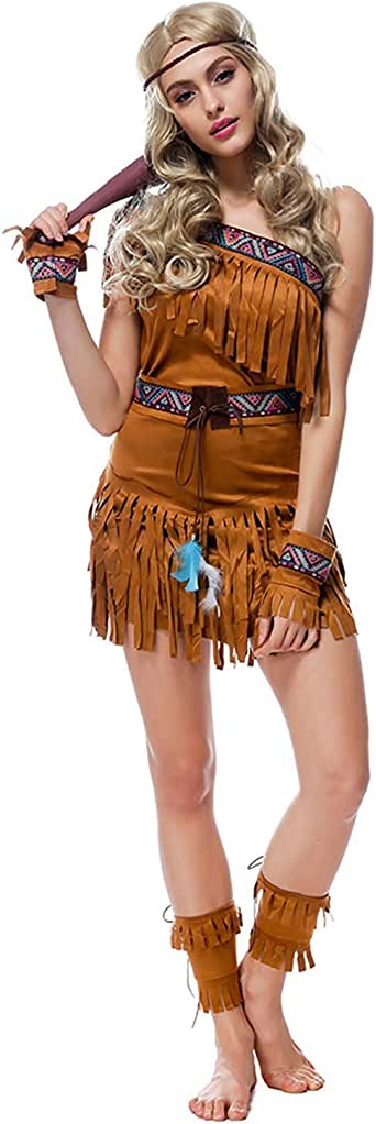 Amazon.com: Yersery Women's Native American Costume Indian ...