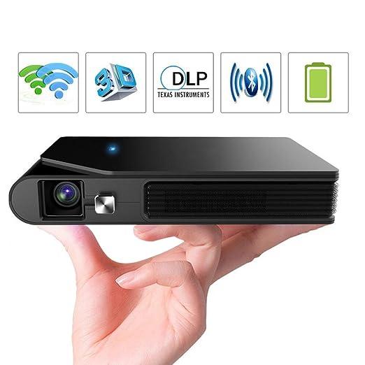 MTTLS Proyectores De WiFi 1600 Lúmenes DLP Pequeño Proyector con ...