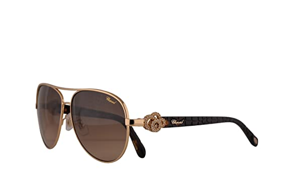 069ad66efe5f Image Unavailable. Image not available for. Color  Chopard SCHC26S  Sunglasses Gold Black w Brown Gradient Lens ...