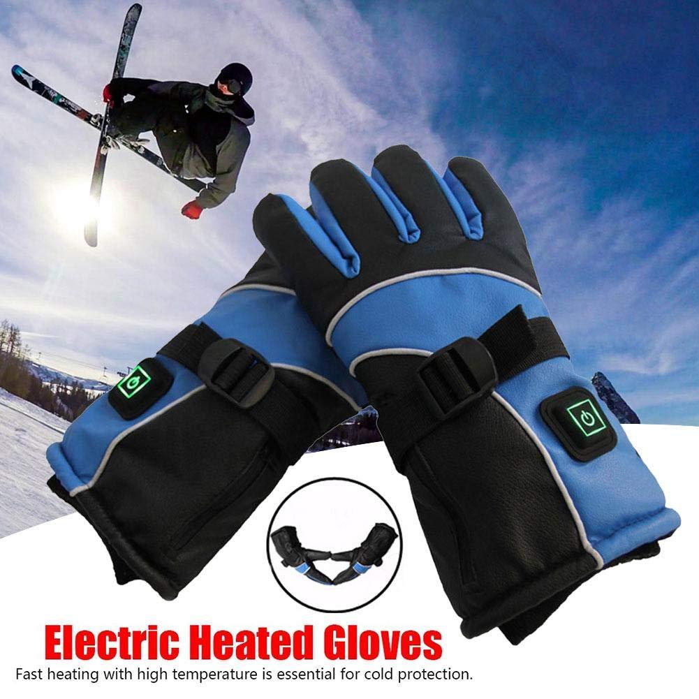 Batteriebetriebene wiederaufladbare beheizbare Handschuhe mit 3000 mAh Akku f/ür Herren//Damen,elektrisch beheizbare Handschuhe,Handw/ärmer,Einstellbare Temperatur f/ür Radfahren,Motorrad,Wandern,Skifahre