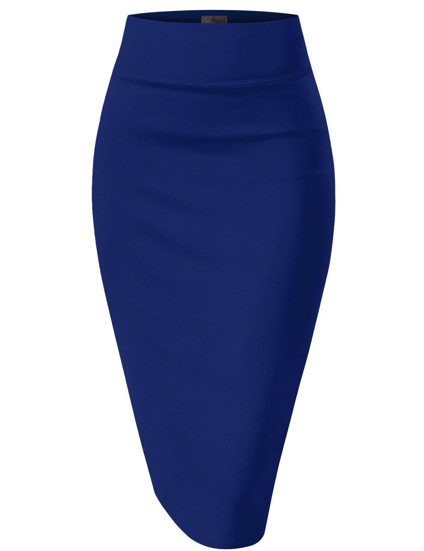 Womens Pencil Skirt for Office Wear KSK43584 1017 Royal Medium