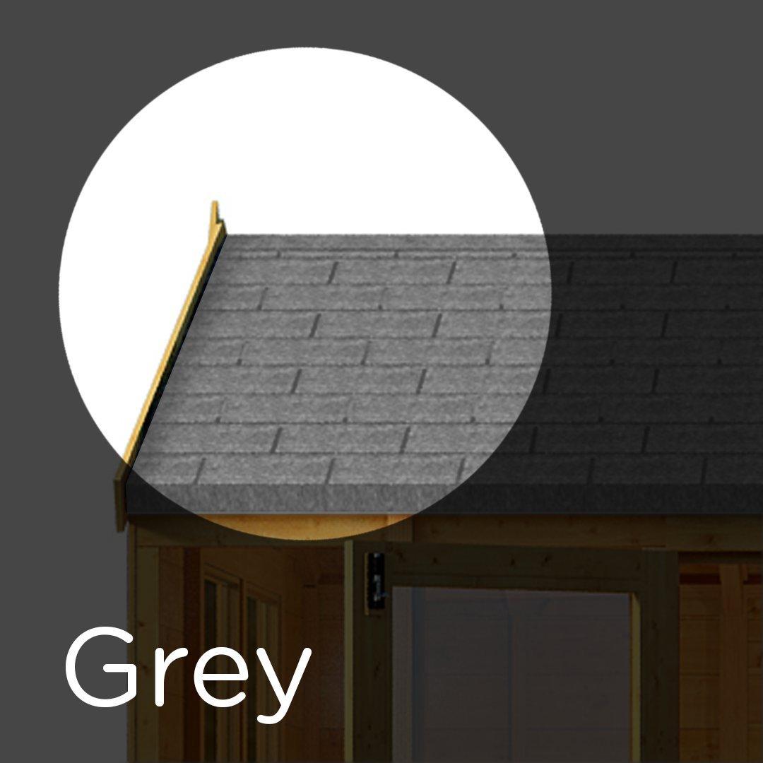 Log Cabins /& Summerhouses Shingles for Sheds Asphalt Roof Felt Tiles Grey