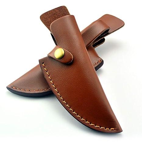 TUYU TYDB504 - Funda de piel para cuchillos, marrón: Amazon ...