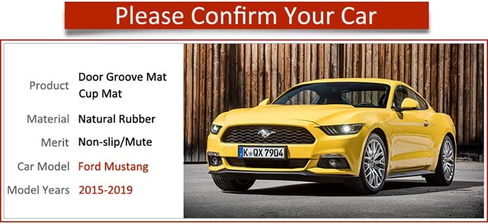 AniFM Slip Door Slot Gummi Latex Slot Innenraum Staubpolster Kissen f/ür Ford Mustang 6 Gen S550 EcoBoost Export 2015~2019 Autozubeh/ör,Red