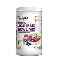 Sunfood Acai Maqui Bowl Mix, 14oz, Organic
