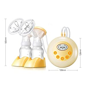 Hermano KINYO Double Electric Breast Pump Portable Breastfeeding Milk Pump with LCD Screen Automatic Massage Function Bpa Free