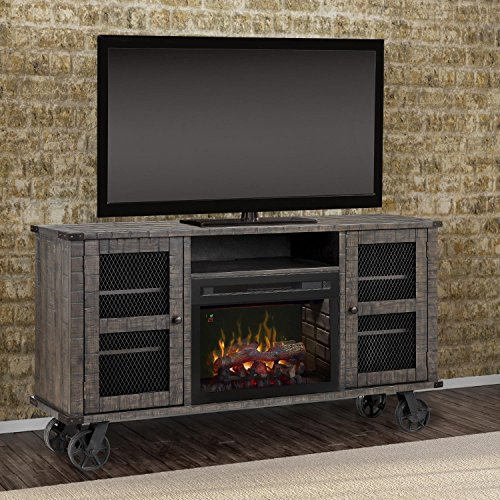 Price comparison product image Dimplex Electric Fireplace,  TV Stand,  Media Console and Entertainment Center with Multiple Storage Cabinets,  Colorful Flames,  Realistic Logs in Pinehurst Finish - Duncan GDS25GD-1856PH