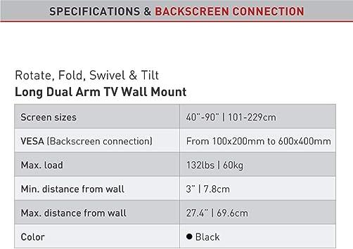 Barkan 4800.B - Soporte de televisión para televisor, Color Negro: Amazon.es: Electrónica