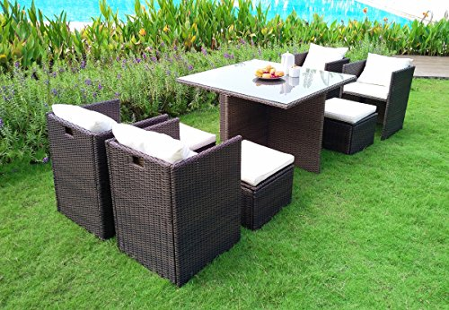 Weatherproof Since 1948 WEATHERPROOF Outdoor Patio 9-piece Furniture Dining Set, All-Weather Wicker -  - patio-furniture, dining-sets-patio-funiture, patio - 61M000erchL -