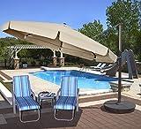 Island Umbrella NU6775 Victoria Octagon Cantilever with Valance in Sunbrella Acrylic, 13′, Beige Review