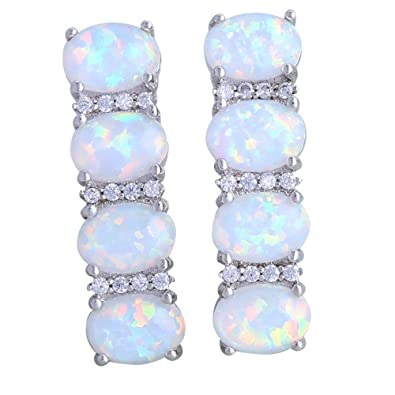 Gift Party Wedding White opal earrings 925 Sterling Silver earrings Cute tortoise for women E160 jcK6xAlqpF