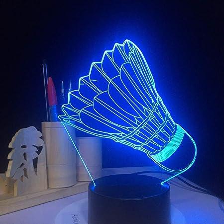 ZCHPDD 3D Luz Nocturna USB 7 Cambio De Color Lámpara De Mesa Led ...