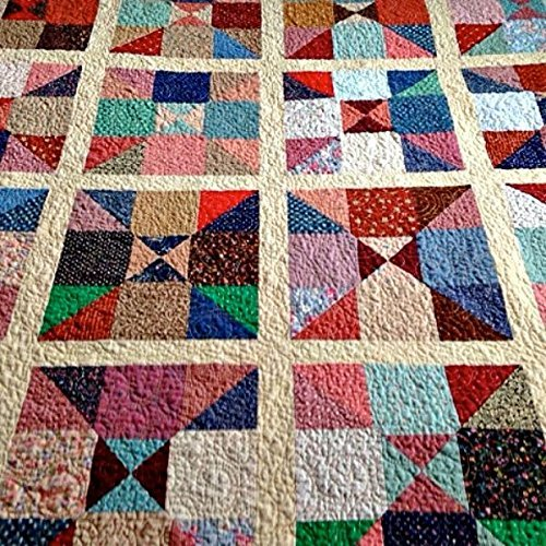 Homemade Quilts For Sale >> Amazon Com Handmade Quilted Lap Quilt Scrappy Patchwork Lap Quilt