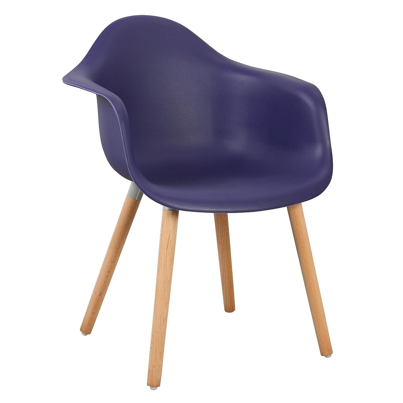 WOLTU® 4er Set Esszimmerstühle Küchenstuhl Design Stuhl Esszimmerstuhl mit mit mit Lehne Kunststoff Holz Weiß BH37ws-4 9d5ed4