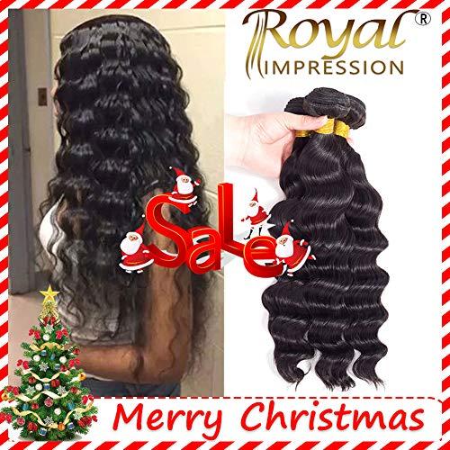 Human Remy Hair (Brazilian Virgin Hair Loose Wave 3 Bundles 10A Grade Unprocessed Virgin Human Hair Remy Hair Bundles Natural Color (10