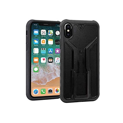 Black Gray Topeak Ridecase With Ridecase Mount For Iphone X