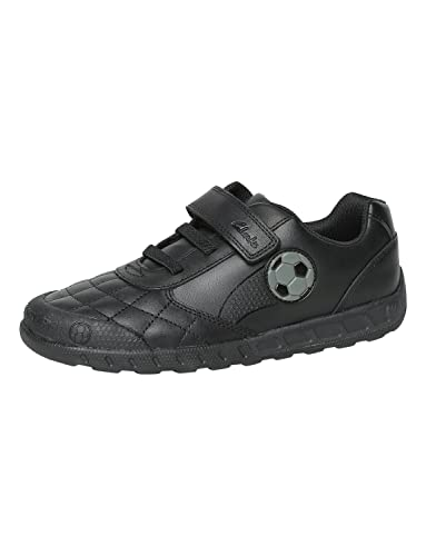 ab78a235c9ae Clarks Boys Football Design School Shoes Leader Game - Black Leather - UK  Size 1H -