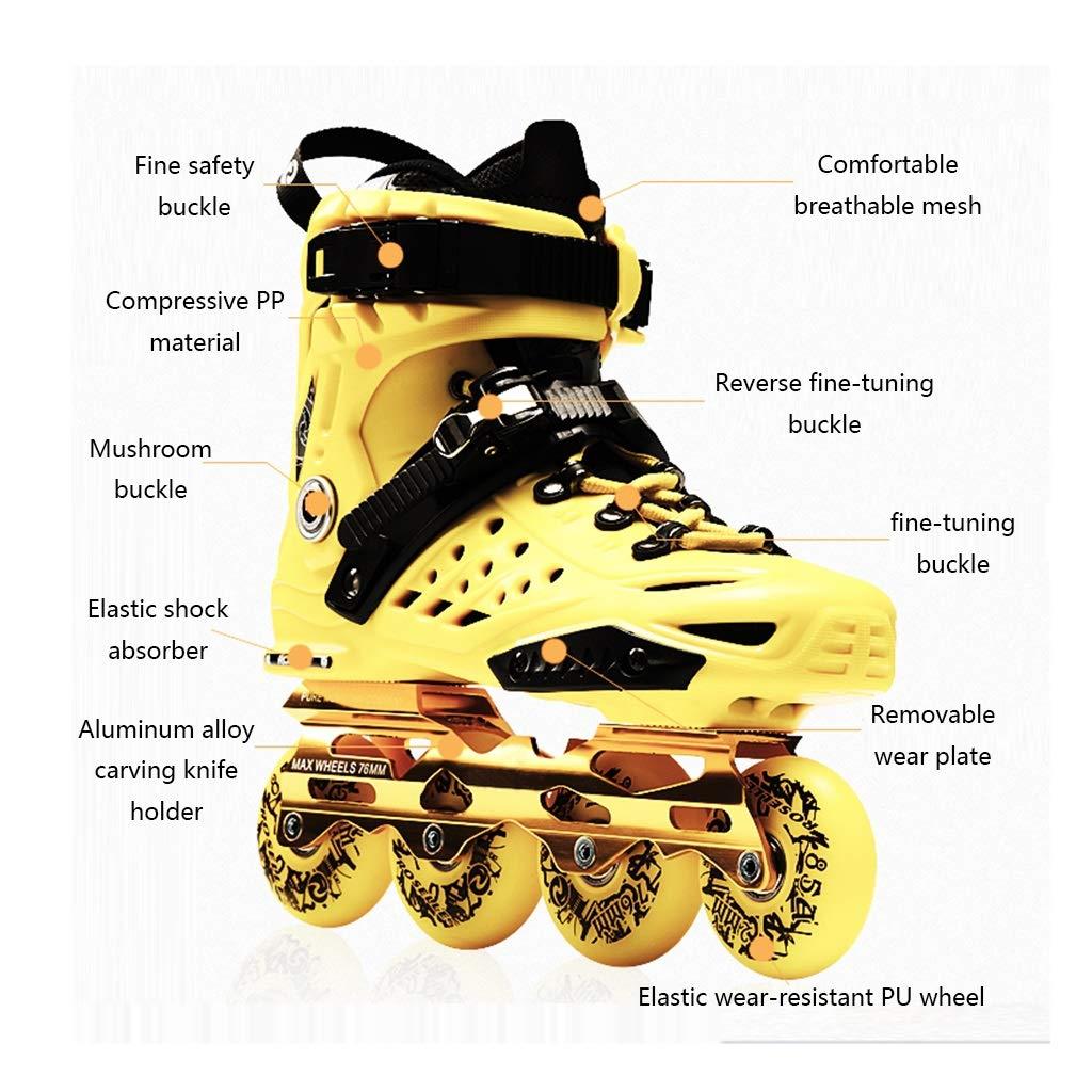 LXP Inline Skates Erwachsene Anfänger-einzelne Reihen-Rochen, Beruf Extravagante Extravagante Extravagante Inline-Rollen-Schuhe, Antikollisions-Dämpfung, Breathable, 2 Farben Professionelle Skates mit hoher Konfiguration B07QQN7SBG Inline-Skates Wirtschaftlich und prakti 589568