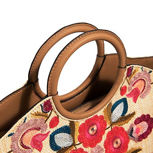Parfois Parfois Flora Mujeres Parfois Beige Shopper Beige Beige Mujeres Flora Parfois Shopper Flora Mujeres Shopper Shopper 4awnxP4