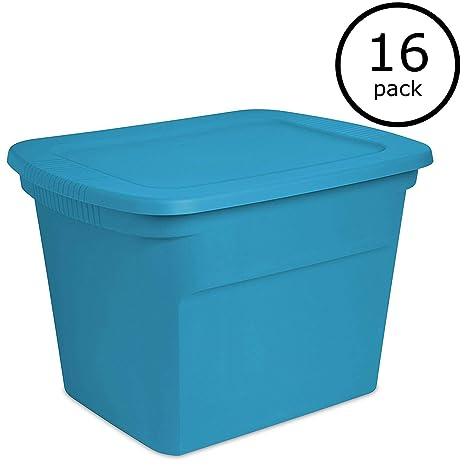 Amazon.com: Sterilite 18 galones de plástico Contenedor ...