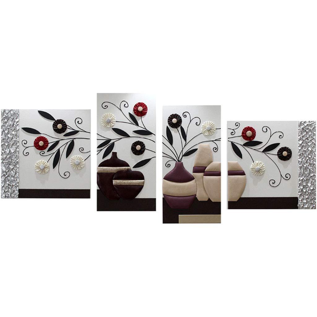ウォールステッカー 壁画装飾絵画エンボス絵画花装飾絵4重塗装 (Color : 白, Size : 200 * 80 * 3CM) B07H7GPBVM  白 200*80*3CM