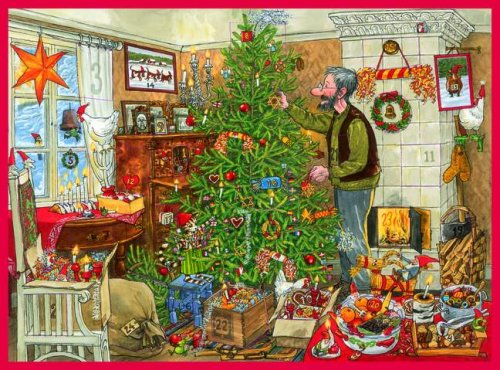 Weihnachten mit Pettersson und Findus: Schokoladen-Adventskalender