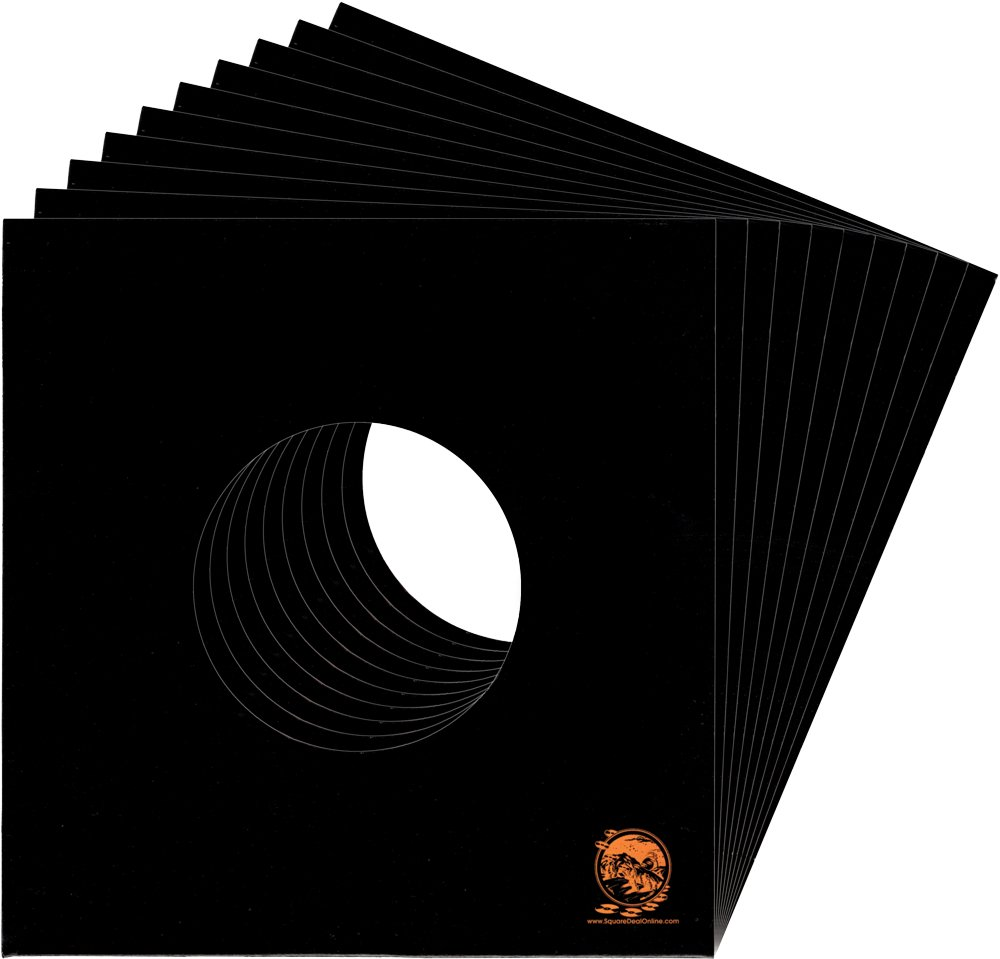 (250) 7'' Standard Weight Black Record Jackets - With Hole - #07JWBKHH