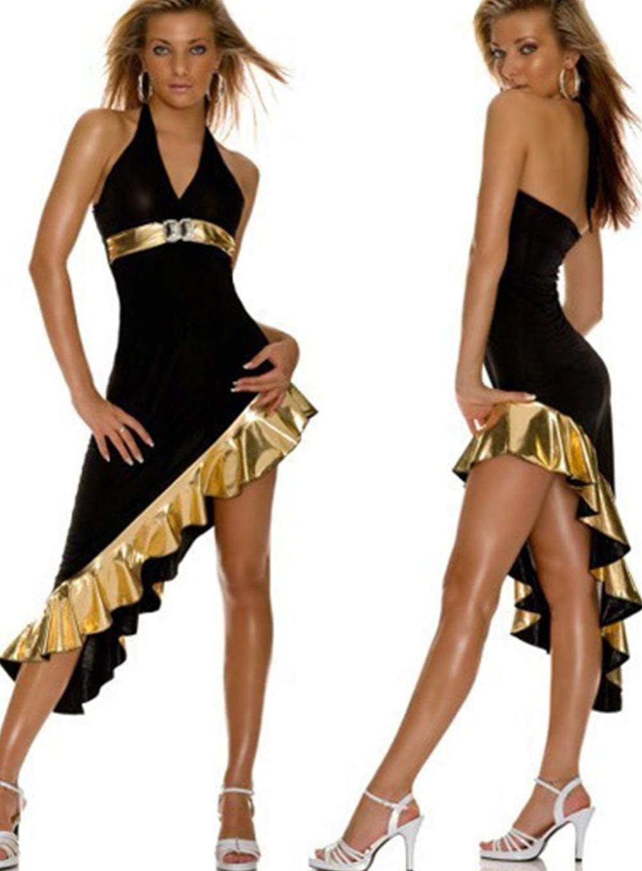 Marcus R Caveggf Lingerie Cexy Vestito in Pelle Verniciata Gonna Quadrato di Danza Locale Notturno Servizio Costumi Bar