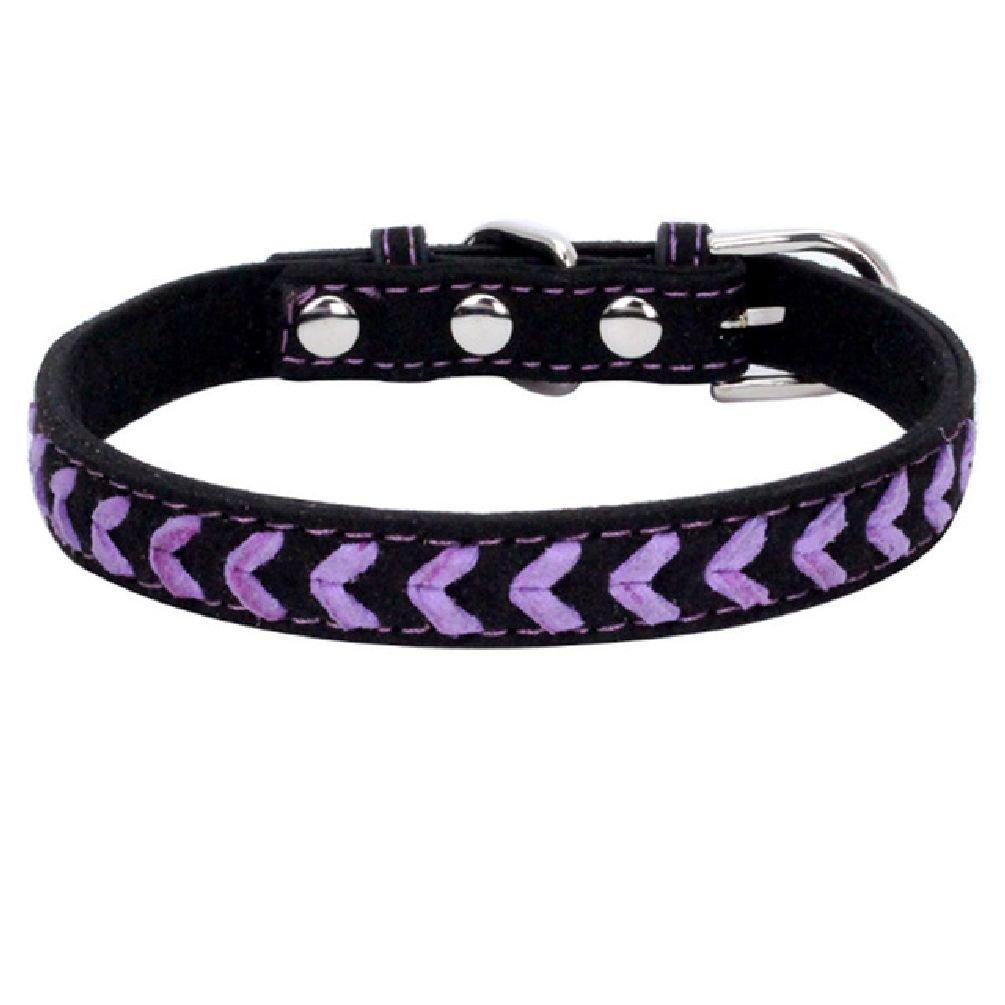 Inteeon Pet Series New color weaving pet collar soft super fiber dog chain cat traction supplies