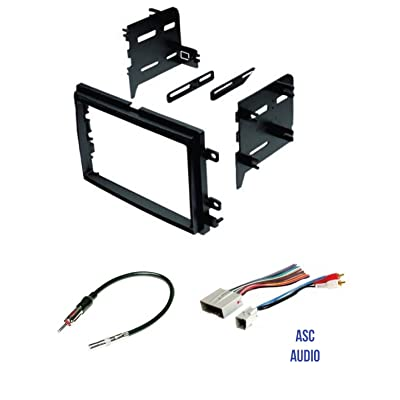 ASC Audio Car Stereo Radio Install Dash Kit, Wire Harness, and Antenna Adapter to Install a Double Din Radio for some Ford Lincoln Mercury Vehicles - Compatible Vehicles Listed Below: Car Electronics