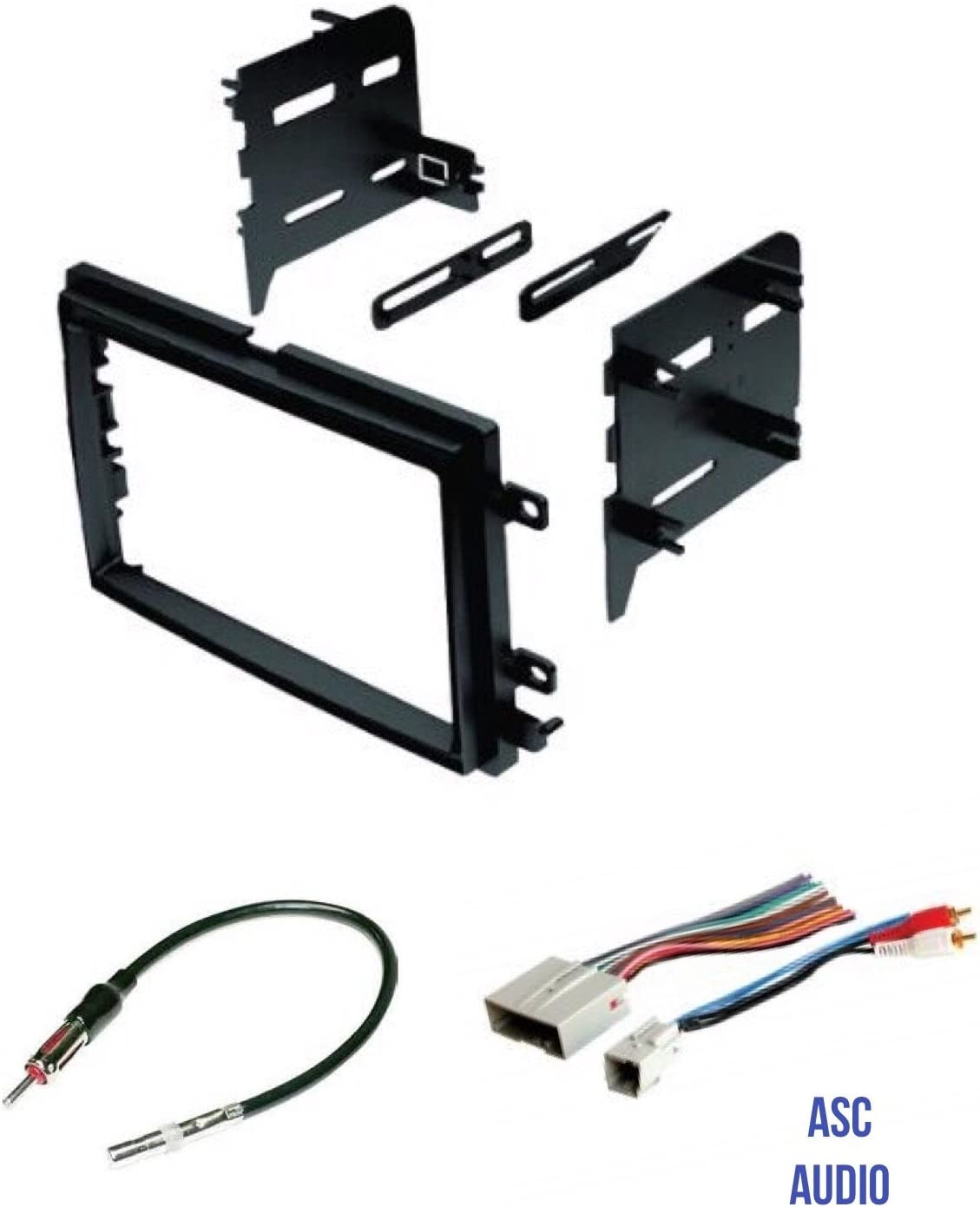 Amazon.com: ASC Audio Car Stereo Radio Install Dash Kit, Wire Harness, and  Antenna Adapter to Install a Double Din Radio for Some Ford Lincoln Mercury  Vehicles - Compatible Vehicles Listed Below: CarAmazon.com