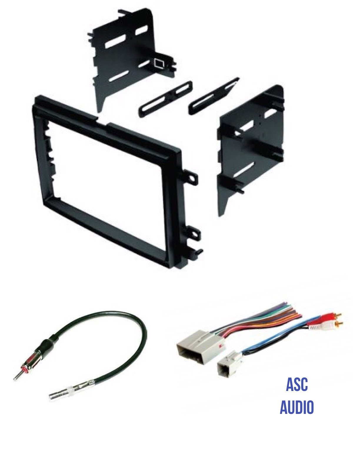 ASC Audio Car Stereo Radio Install Dash Kit, Wire Harness, and Antenna  Adapter to