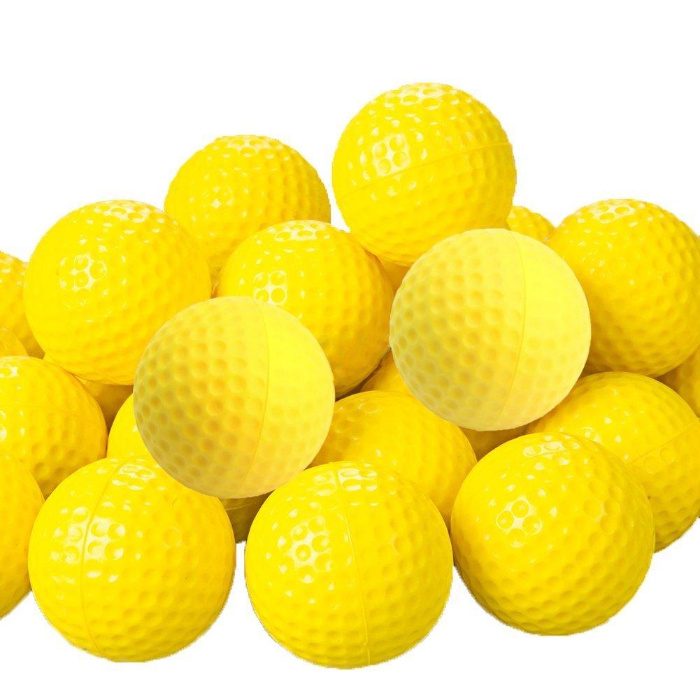 Naisicatar 10/20/30/50 pelotas de golf de espuma de poliuretano amarillo, esponja elástica para interior y exterior: Amazon.es: Hogar