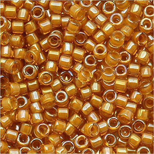 Miyuki 11/0 cuentas Delica vara de oro con ámbar DB272 7,2 gramos AB: Amazon.es: Hogar