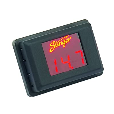 Stinger SVMR Voltage Gauge - Red Display: Car Electronics