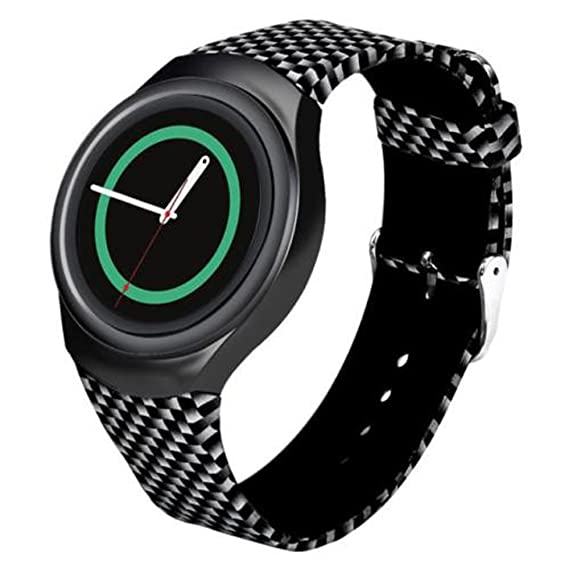 For Samsung Gear S2 Watch Band - Soft Silicone Sport Replacement Band for Samsung Gear S2 Smart Watch SM-R720 SM-R730 Version Mosaic